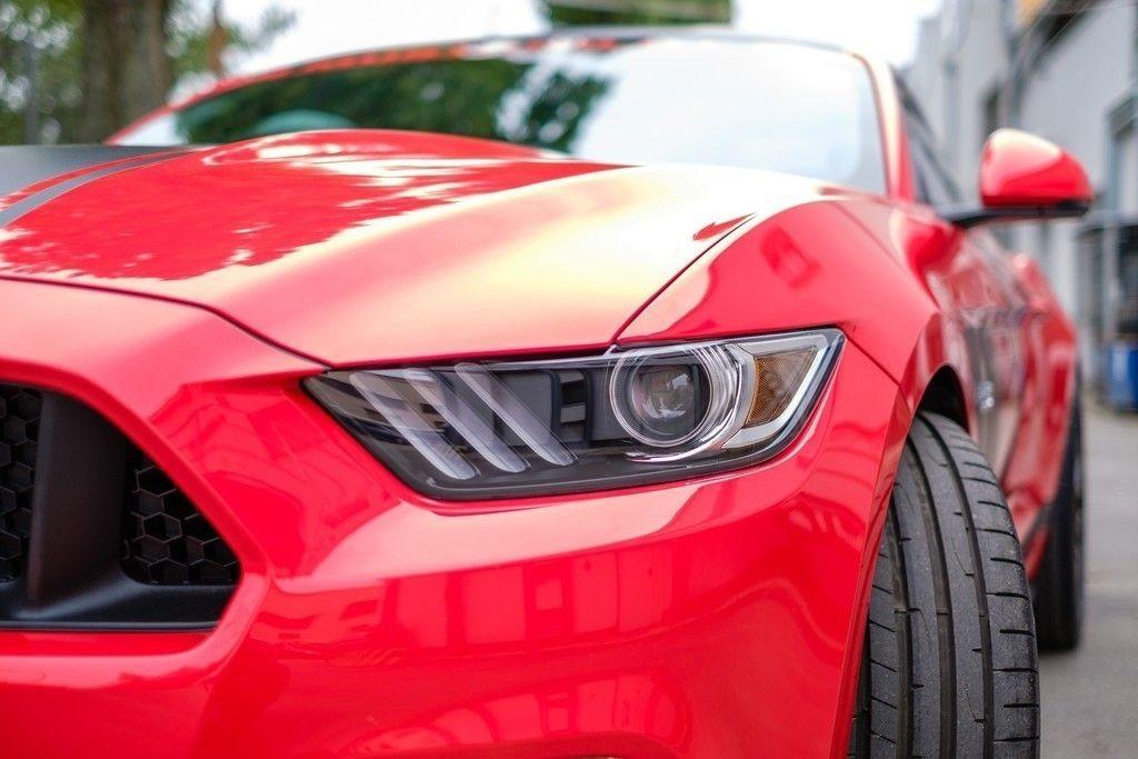 Mustang Gt Sports Red Car Headlight Wallpaper Cars Wallpapers Mustang Sports Ca