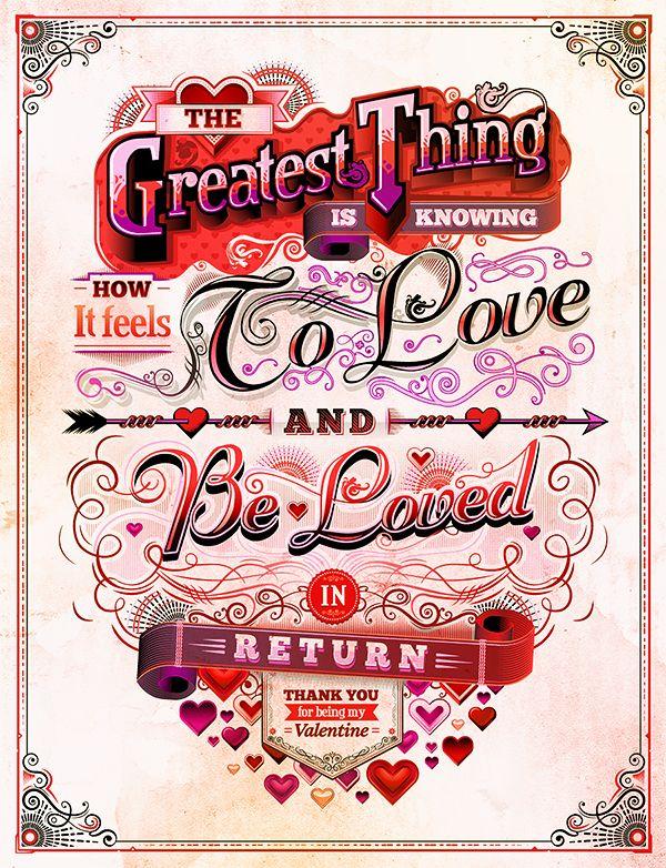 Valentine's Day Illustrations by David Goh, via Behance