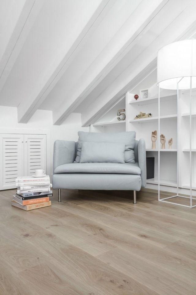 kinderzimmer dachschräge weiß leseecke parkettboden Leben unterm - einrichtungsideen schlafzimmer mit dachschräge