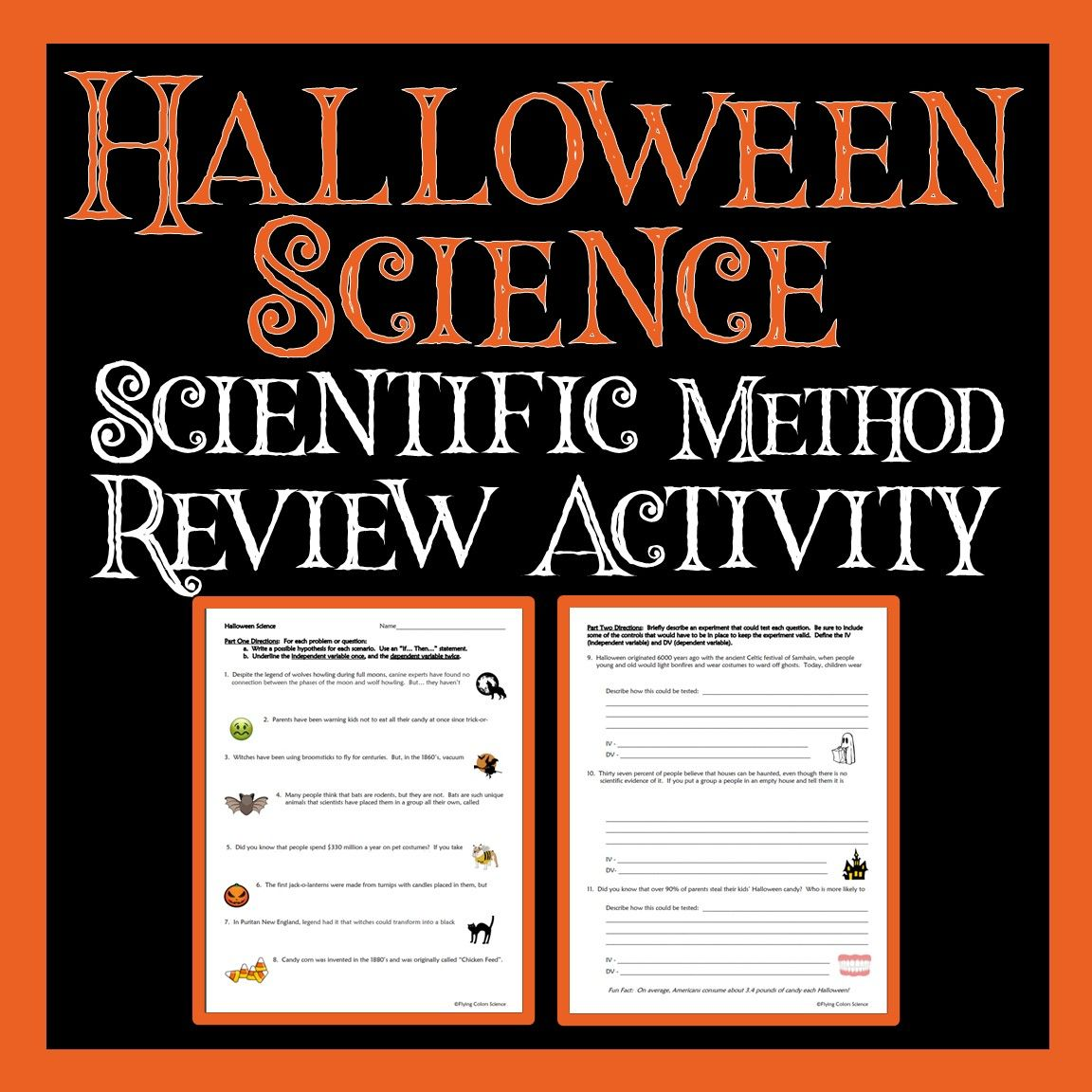 No Prep Halloween Fun In Science Scientific Method Halloween Science Activities Halloween Science