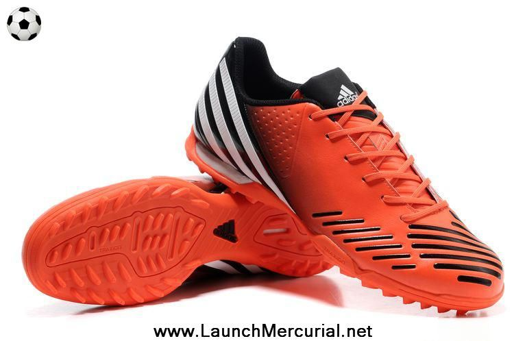 Cheap Infrared-Running White-Black Adidas Predator LZ TRX TF Football Boots