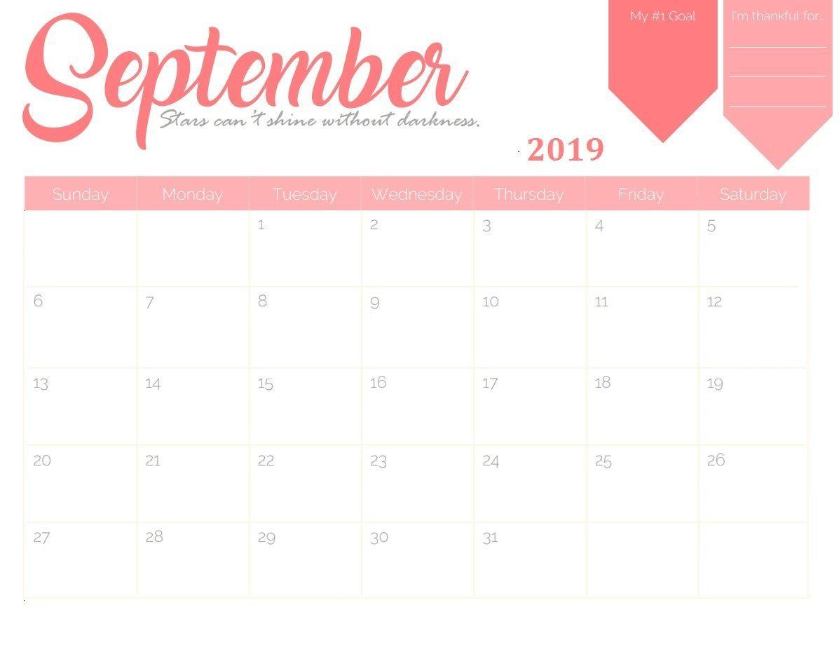 Monthly Calendar Templates For Septeber To December 2019 September 2019 Wall Calendar #september #september2019
