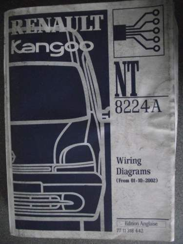 renault kangoo wiring diagrams manual 2002 nt8224a