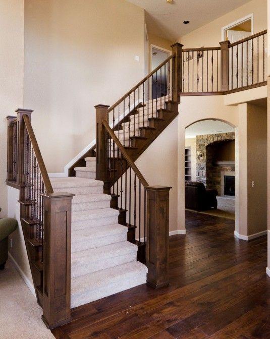House Ideas Stair Modern Half Turn Staircase Design Ideas With