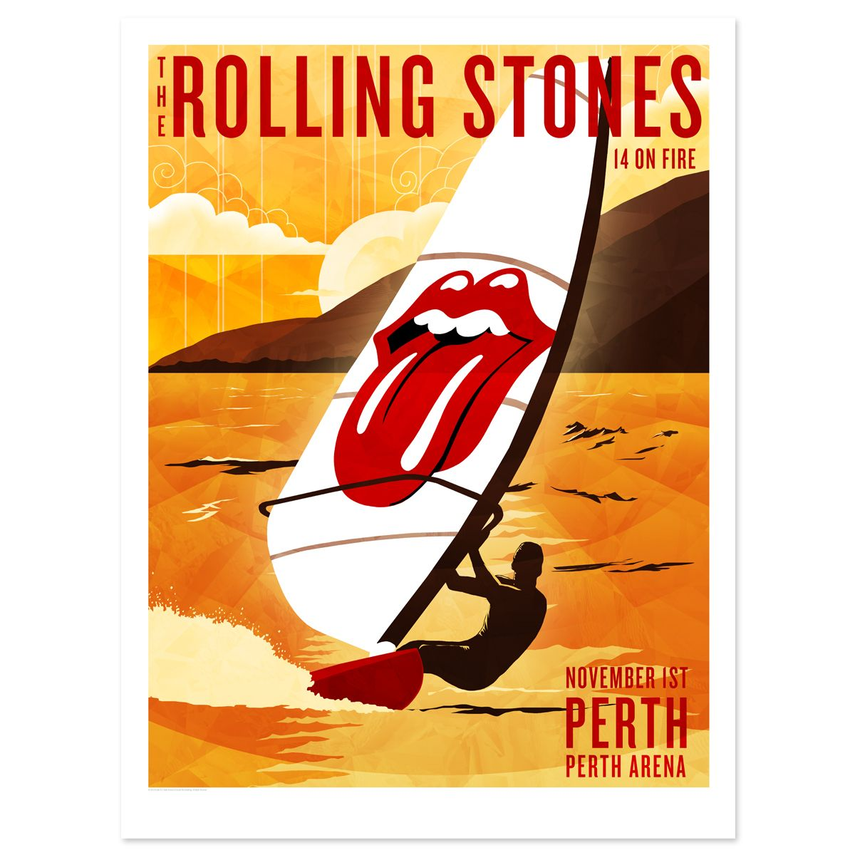 Poster Shop Perth Rolling Stones Lithographs Rolling Stones Perth Windsurfer Litho