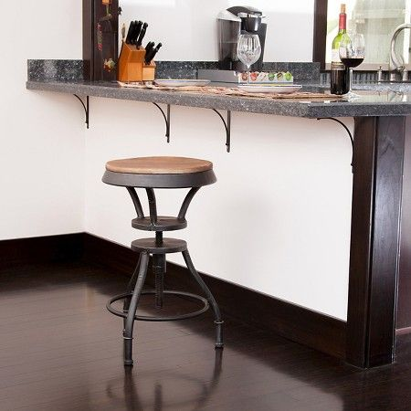 www.target.com p lucian-adjustable-wood-top-24-barstool-iron-black-christopher-knight-home - A-17236092