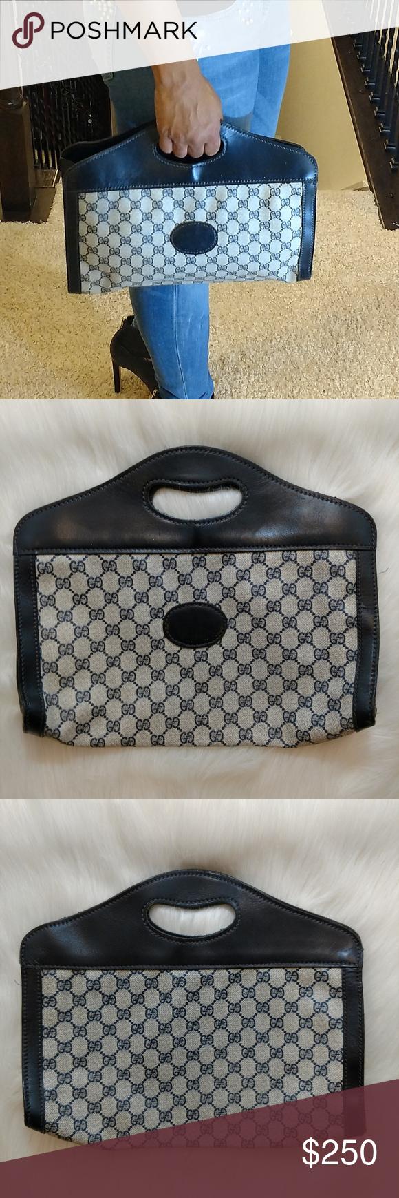 15565ccddaa Autentic Navy Blue Vintage Gucci Handbag Purse This authentic Vintage Gucci  handbag is great condition.