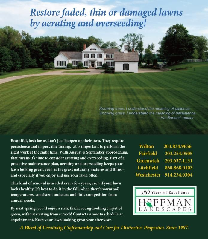 Summer Is For Aerating And Overseeding Lawncare Lawn Landscape Freshcutgrass Summer July August Yardwork Landsca Lush Lawn Overseeding Lawn Lawn Care