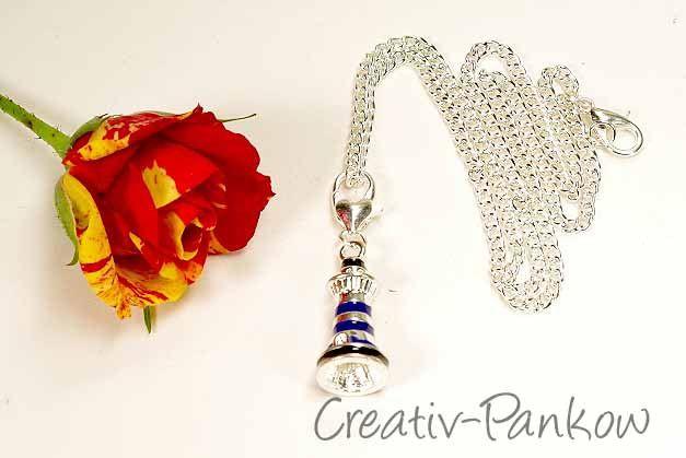 """süße Kinderkette """"blauer Leuchtturm"""" von Creativ-Pankow-Kinder auf DaWanda.com"""