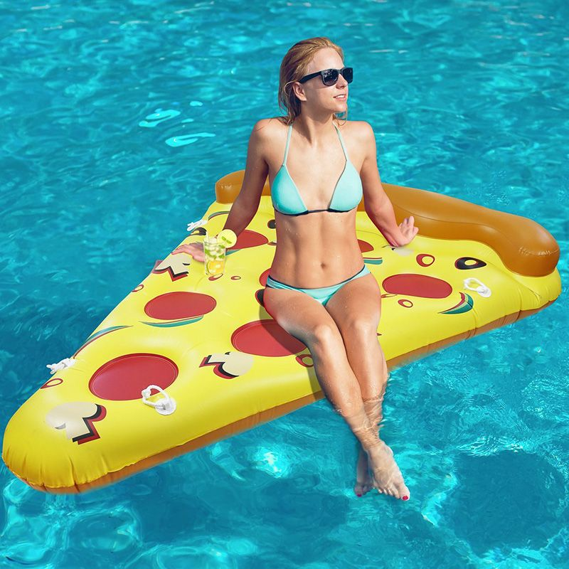 Inflatable Pizza Pool Float Toys Inflated Air Mattresses Toys For Adult  Outdoor Fun Toys Sports Summer