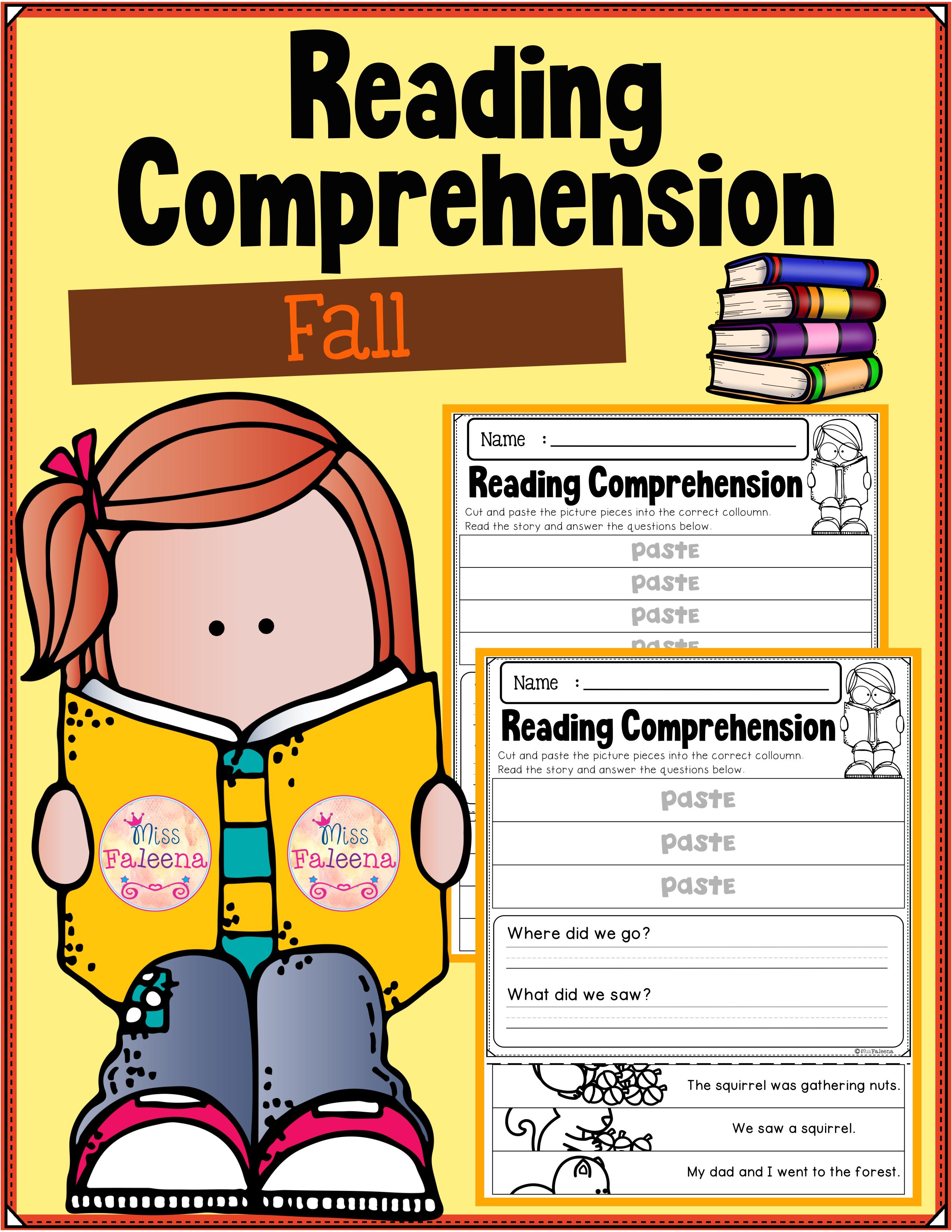 Fall Reading Comprehension Puzzles Dengan Gambar