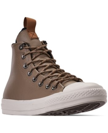 4ff8cacd95e8 Converse Men s Jack Purcell Desert Storm Leather Hi Casual Sneakers from  Finish Line - Brown 9