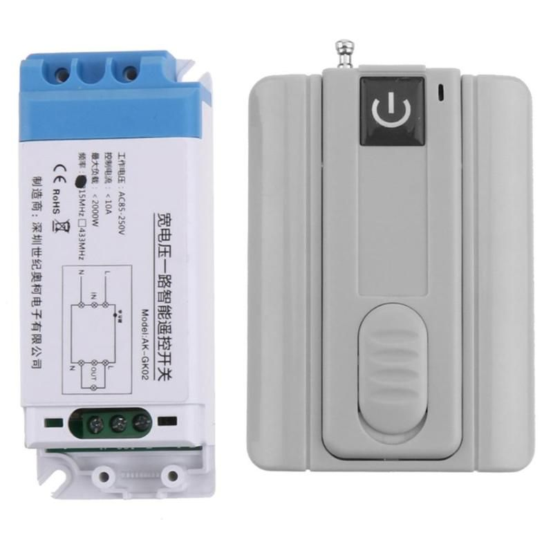 Alloyseed 433mhz Ac 85v 250v Universal Wireless Remote Switch 12v Remote Control Receiver Module For Garage Door Gate Ligh With Images Gate Lights Remote Control Door Gate