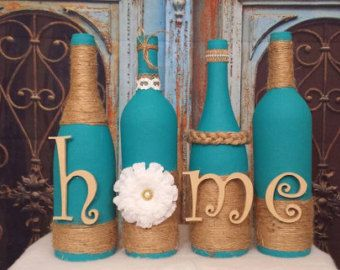Wine Bottle Decor Items Similar To Hand Painted Set Of Three Halloween Wine Bottle
