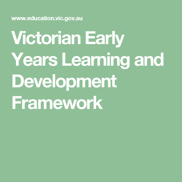 Victorian Early Years Learning And Development Framework Learning Framework Learning And Development Childhood Health