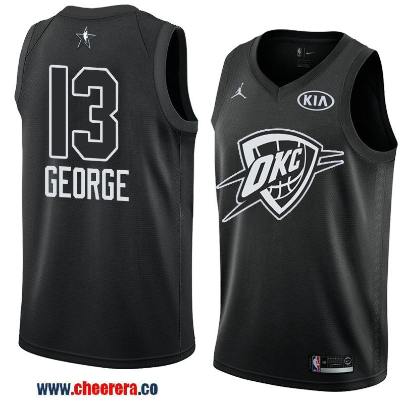 13d108d38 men s game swingman oklahoma city thunder  13 paul george black 2018 nba all -star jersey