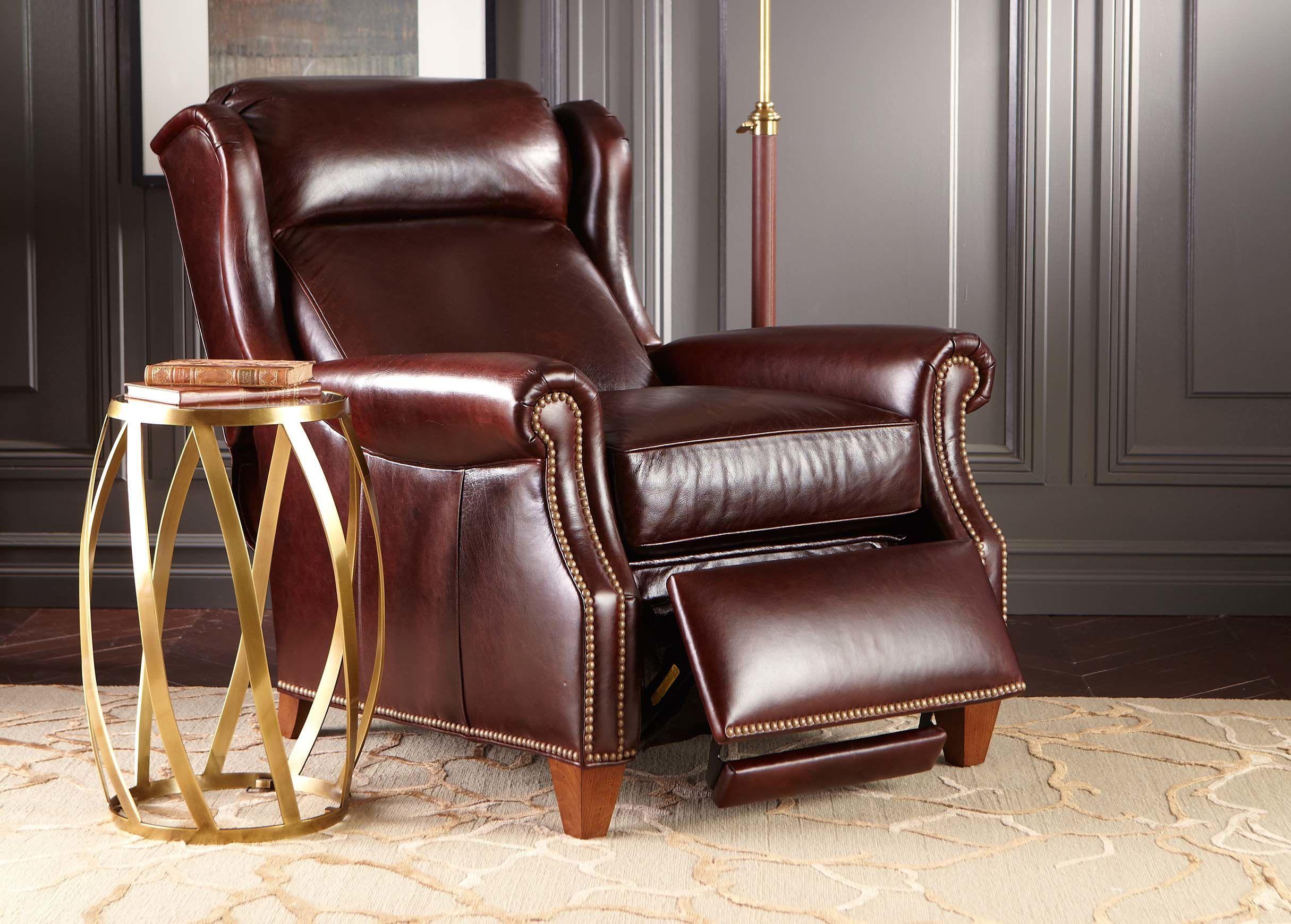 Graham Leather Recliner Anson Chestnut Ethan Allen