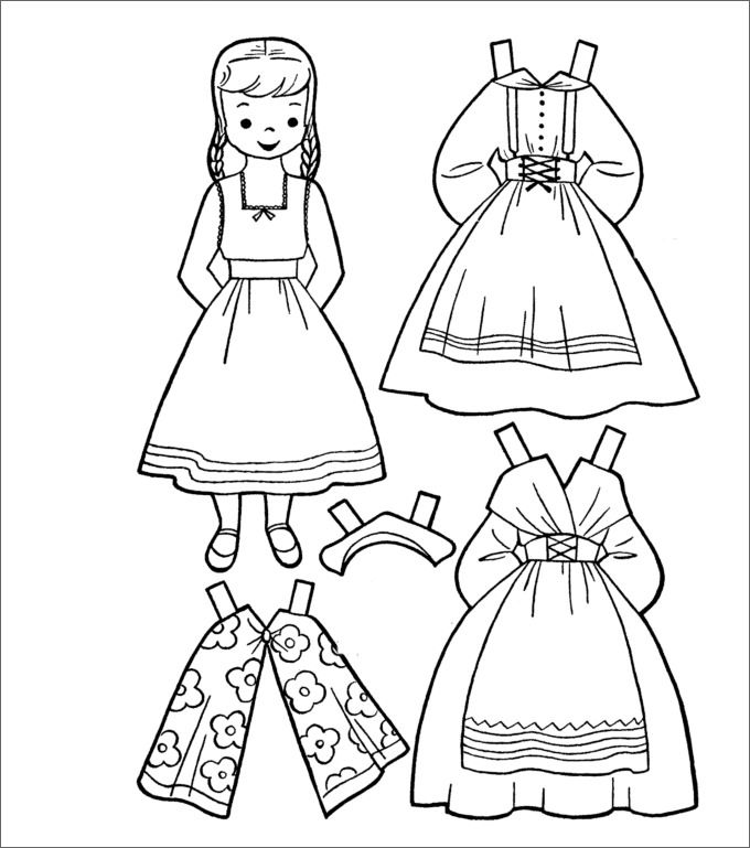 Dress Up Coloring Pages Paper Doll Template Paper doll template Paper dolls