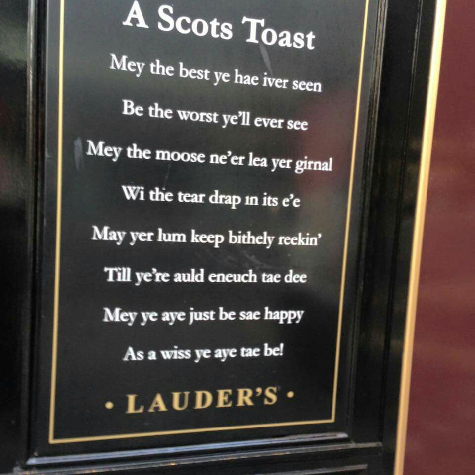 A scots toast scottish sayings proverbs poems blessings a scots toast kristyandbryce Choice Image