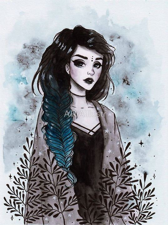 #Me Modern witch by ARiAillustr | Redbubble #Moonlight #Nightmares #modernwitch