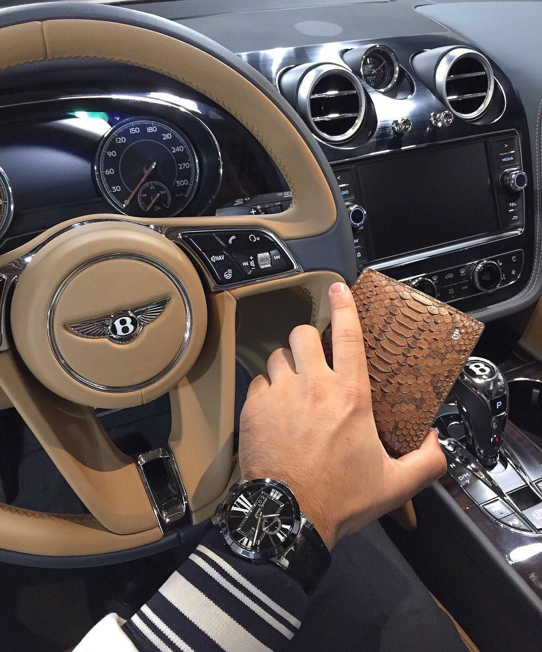 Bentley Bentayga Speed Beats Lamborghini Urus: Bentley Bentayga Interior X @Michael_Louis_ Brown Python