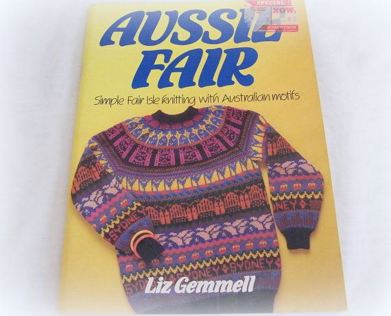 Australian Motif Knitting Patterns Book Aussie Fair Simple Fair Isle