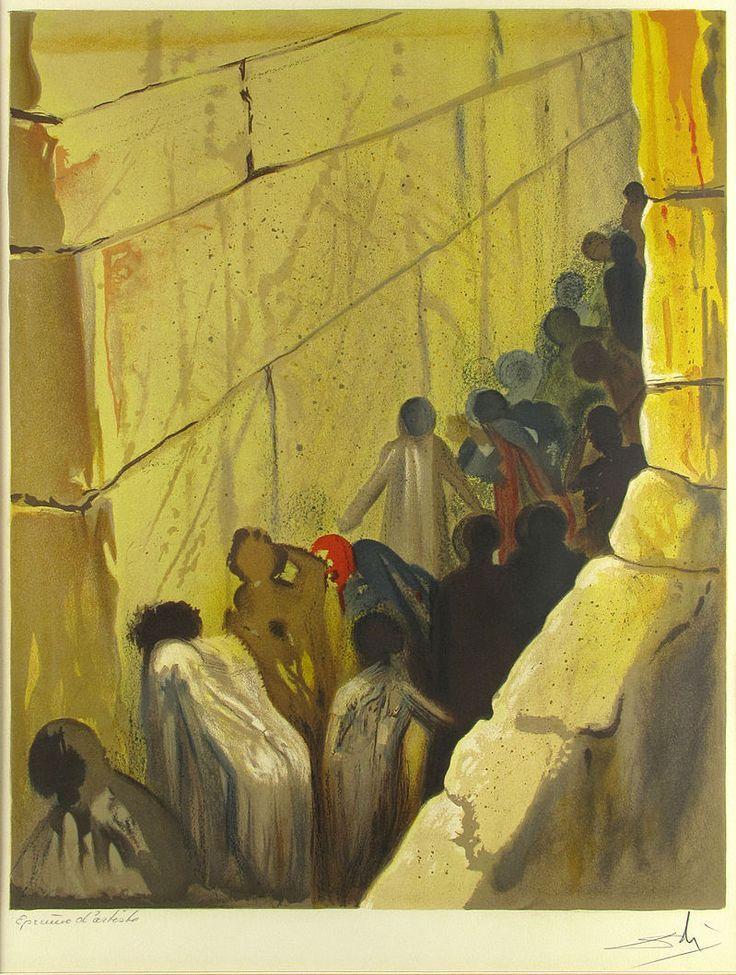 Salvador Dali, The Wailing Wall, Lithograph on Paper, Aliyah, 1968 ...