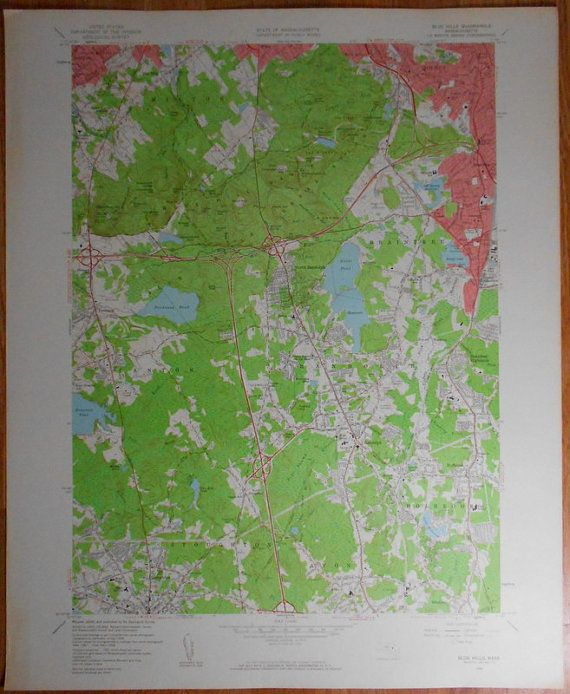 1960 Blue Hills Randolph Holbrook Braintree Canton Quincy Stockton