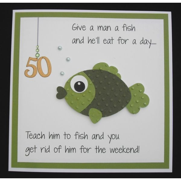 Fishing Birthday Card Fish Cardsetc Pinterest Cards