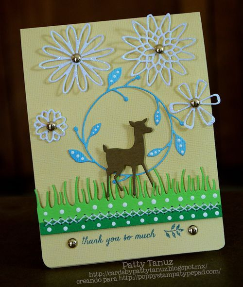 thank you so much card   poppystamps  memory box cards