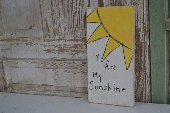 You are my Sunshine Plaque by SweetPeaMadewithLOVE on Etsy, $20.00