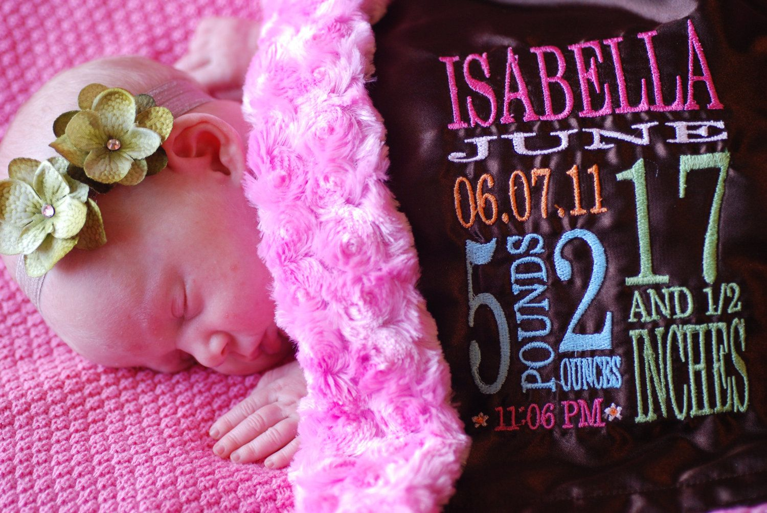 personalized Little Fluffy Blanket minky satin birth by ...