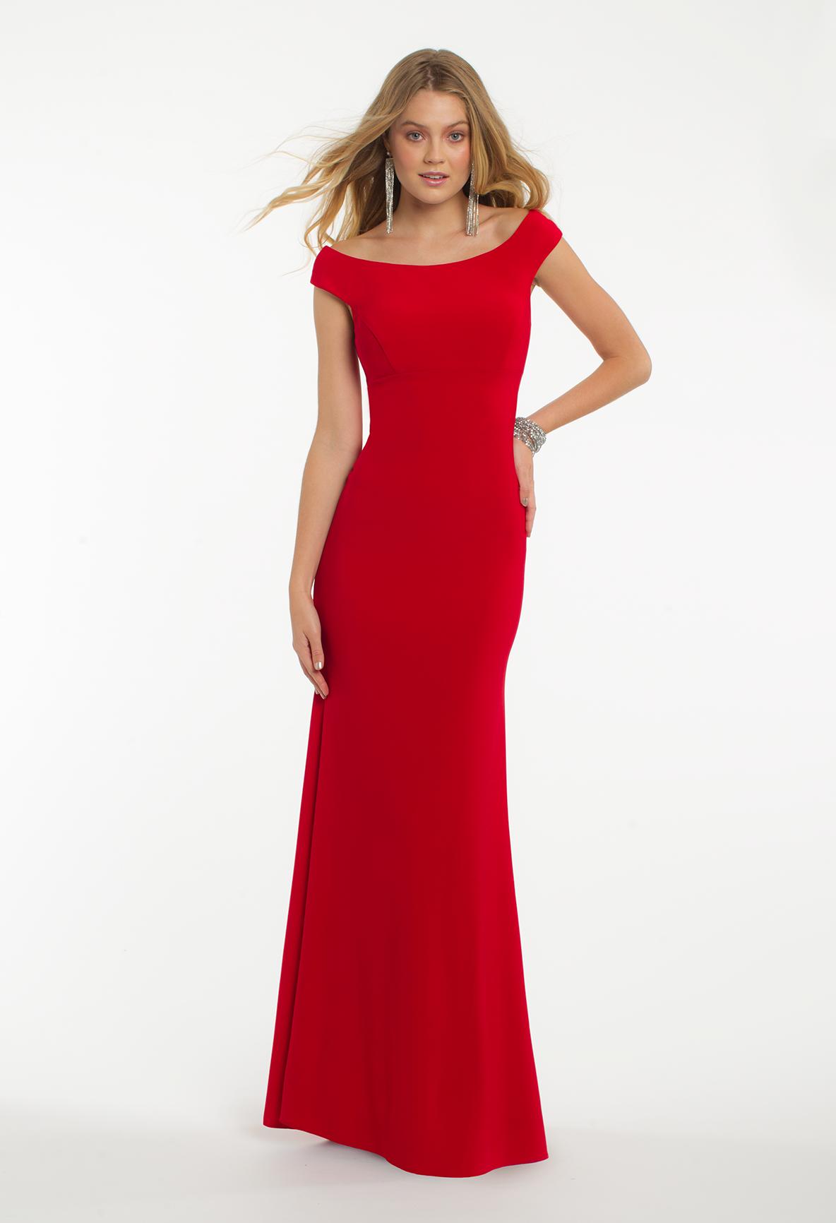 Off shoulder shirred back dress