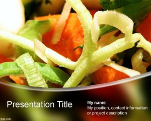 Vegetables Powerpoint Template Is A Free Ppt Template For Healthy
