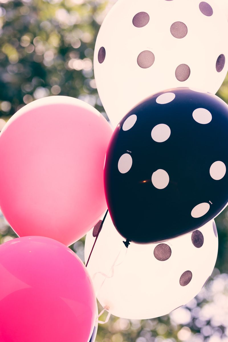 Download Black And White Photography With Color Balloons