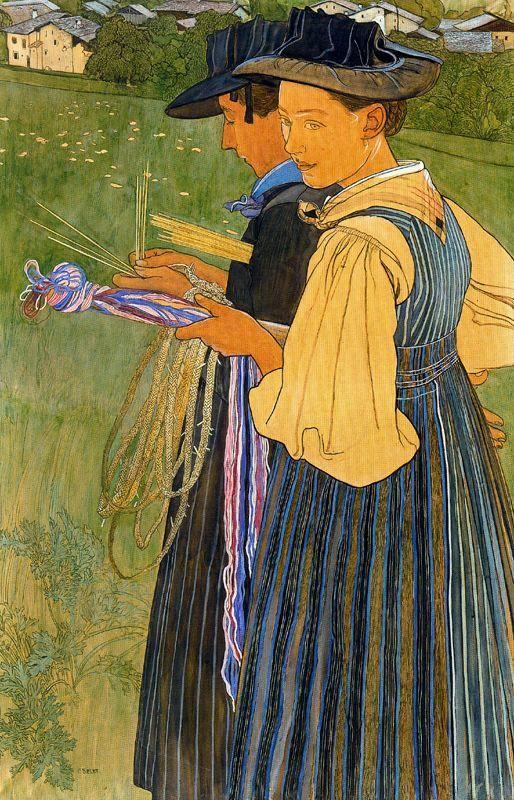Peintures Art Nouveau de l\'artiste suisse Ernest Biéler   Modern Art ...