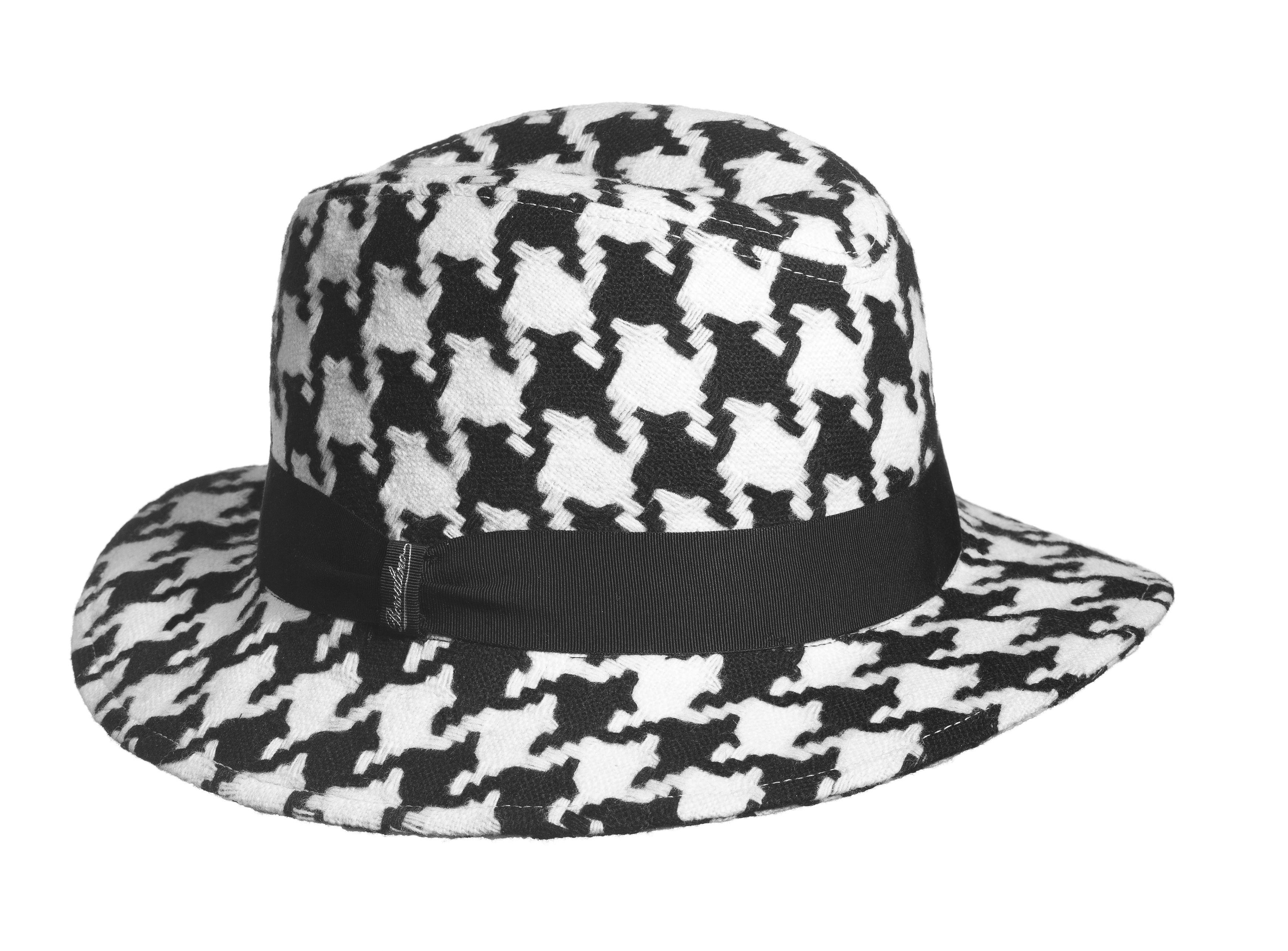 Borsalino cappello in tessuto pied poul forma borsalino ala media