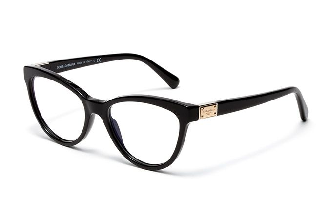 womens black acetate eyeglasses with cat eye frame by dolce gabbana dg3169 eyewear