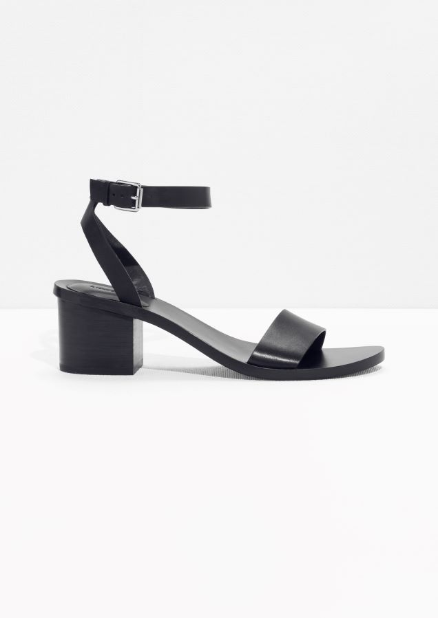 a77e2e8e6fb   Other Stories image 1 of Ankle-Strap Heeled Sandal in Black