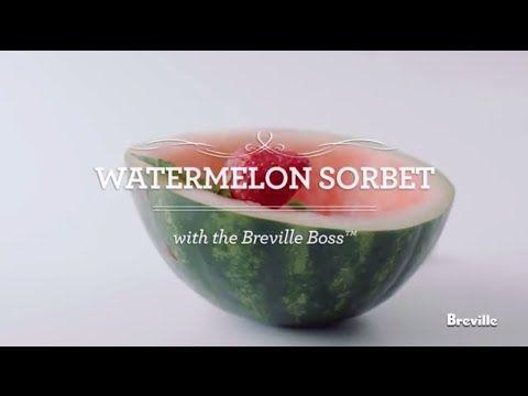 Watermelon Sorbet Recipe Powered By The Best Breville Boss Blender Youtube Watermelon Sorbet Recipes Watermelon Sorbet Watermelon