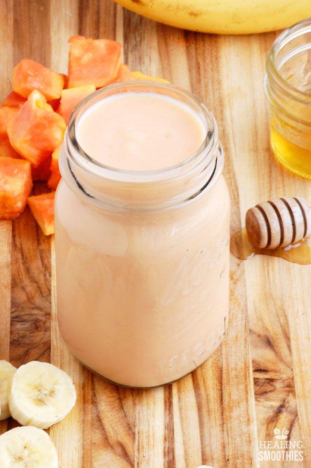 Tome este smoothie de lechoza y guineos cada mañana ayudar a la salud estomacal y bajar de peso.