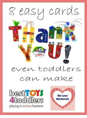 8 Easy Thank You Cards For Toddlers To Make With Images Thank