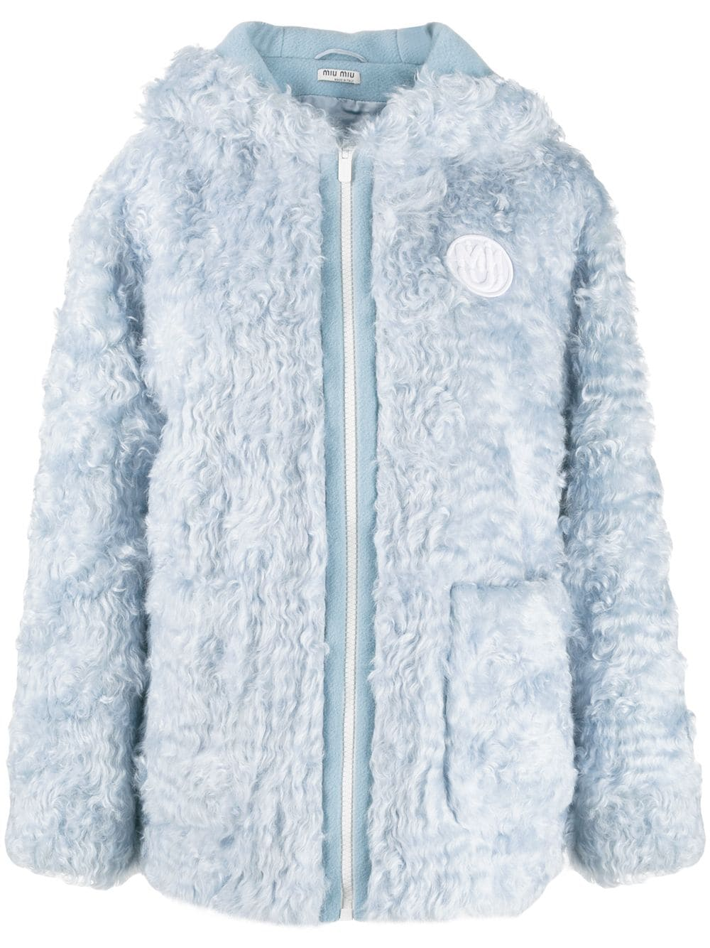 bba16dd4d887 Miu Miu shearling jacket - Blue in 2019 | Products | Shearling ...