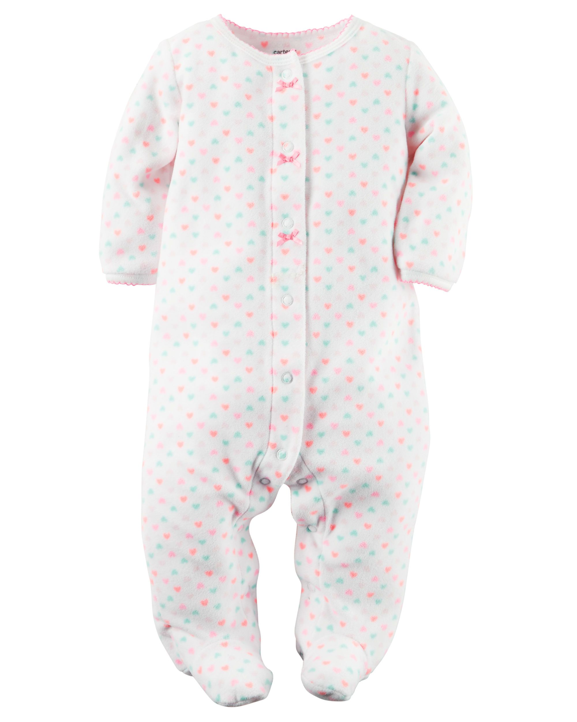af2205744 Baby Girl Fleece Snap-Up Sleep   Play