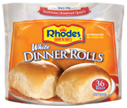 Rhodes Traditional Yeast White Dinner Rolls Thaw Let Rise Then