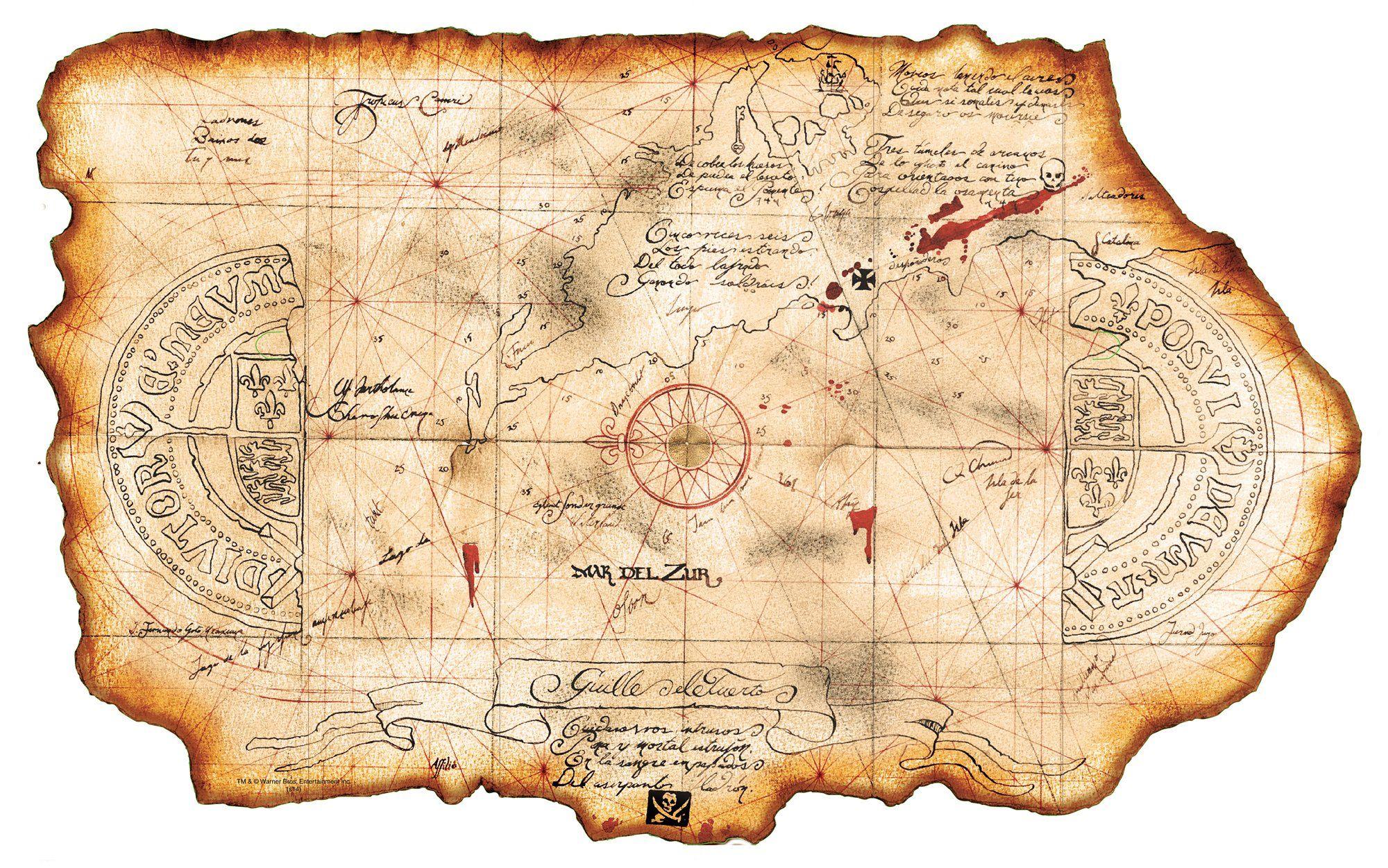 Goonies Pirate Treasure Map