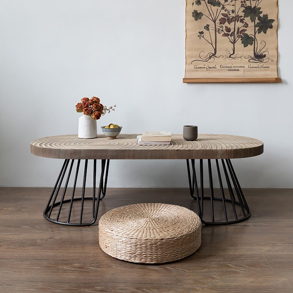 47 Vintage Oval Coffee Table Solid Wood Table Top Growth Rings Metal Base In 2021 Solid Coffee Table Solid Wood Coffee Table Coffee Table [ 1000 x 1000 Pixel ]