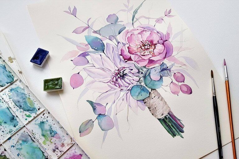 How To Paint Watercolors On Canavas For Vibrant Results