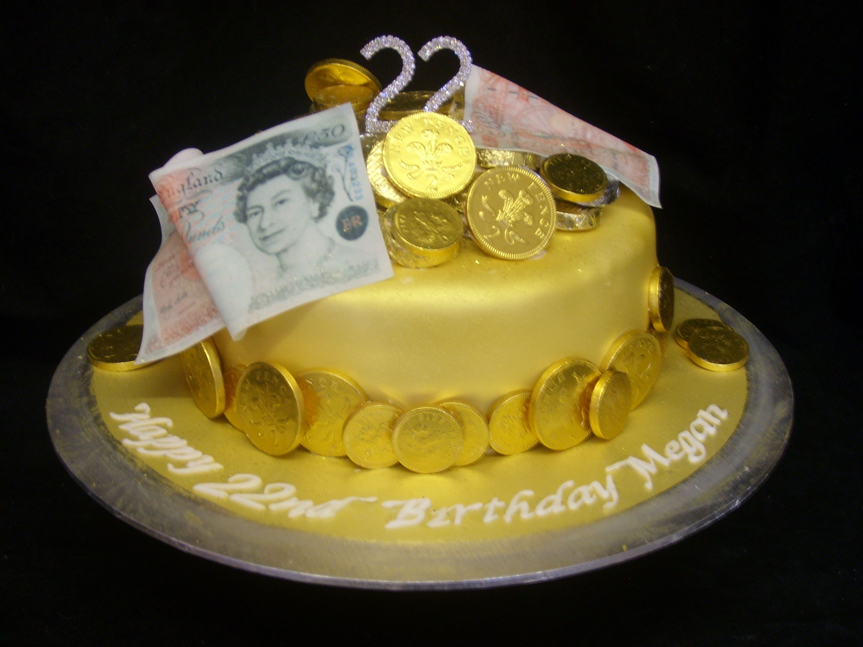 how to make a coin cake
