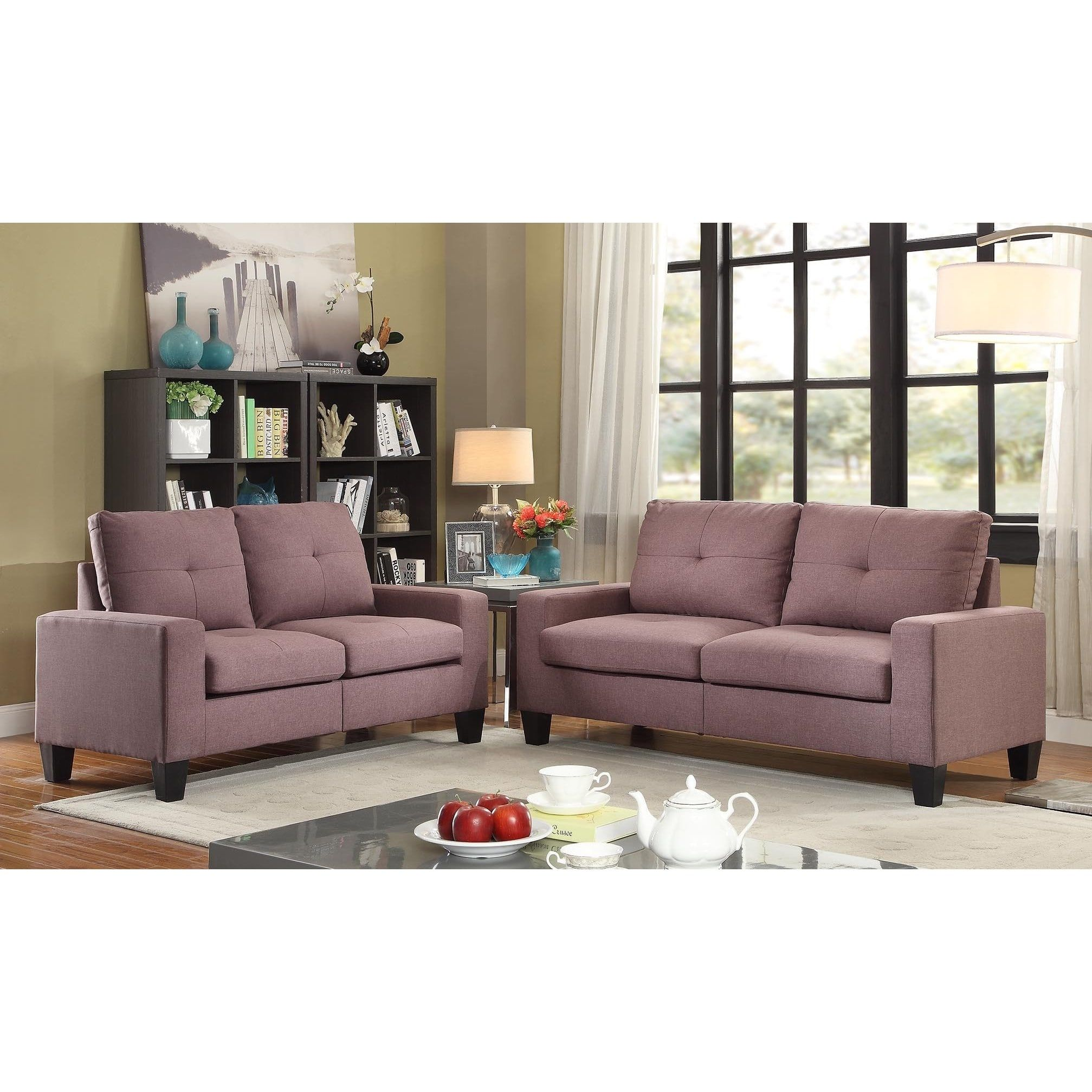 Superb Overstock Living Room Sets Part - 12: Acme Furniture Platinum II Sofa And Loveseat Living Room Set | Overstock.com  Shopping -